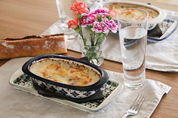 ポーランド陶器 オーブン皿