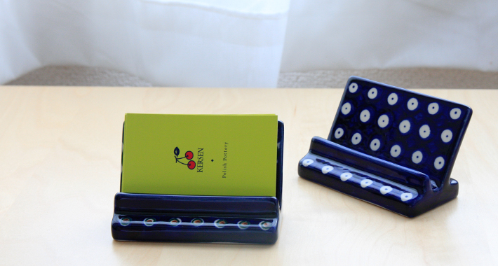 ポーランド陶器 カードホルダー